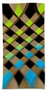 Geometrical Colors And Shapes 1 Beach Towel