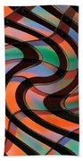 Geometrical Colors And Shapes 2 Beach Towel
