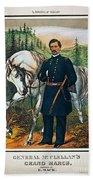 George B. Mcclellan, 1864 Beach Towel