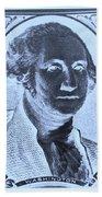 George Washington In Negative Cyan Beach Towel