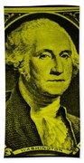 George Washington In Yellow Beach Towel