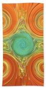 Gerbera Abstract Beach Towel