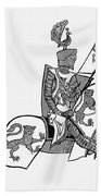 German Knight Beach Towel
