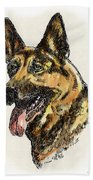 German-shepherd-portrait Beach Towel