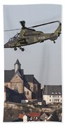 German Tiger Eurocopter Flying Beach Towel