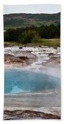 Geysir Eruption Sequence Beach Towel