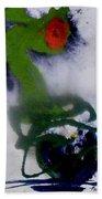 Ghost Flower Beach Towel
