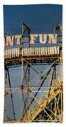 Giant Fun Fair Beach Towel by Adrian Evans