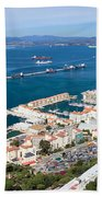 Gibraltar Town And Bay Beach Towel