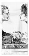 Chess Game, 1903 Beach Towel