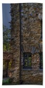 Gillette Castle Exterior Hdr Beach Towel