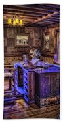 Gillette Castle Office Hdr Beach Towel by Susan Candelario