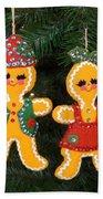 Gingerbread Couple Beach Towel