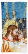 Giotto: Betrayal Of Christ Beach Towel