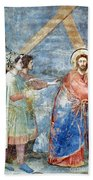 Giotto: Road To Calvary Beach Towel