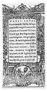 Giovio: Title Page, 1525 Beach Towel