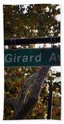Girard Avenue In Philadelphia Beach Towel