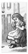 Girl Sewing, 1873 Beach Towel