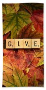 Give-autumn Beach Towel