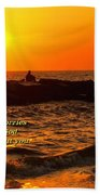 Give Your Cares To God Beach Towel
