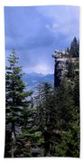 Glacier Point From Four Mile Trail Beach Towel