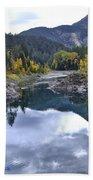 Glacier Reflection Beach Towel