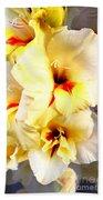 Gladiolus Mirage Beach Towel