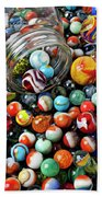 Glass Jar And Marbles Beach Towel