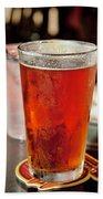 Glass Of Beer Beach Towel