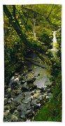 Glenariff, Co Antrim, Ireland Waterfall Beach Towel