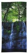 Glenariff Waterfall, Co Antrim, Ireland Beach Towel
