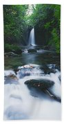 Glencar, Co Sligo, Ireland Waterfall Beach Towel