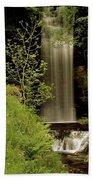 Glencar Waterfall, County Leitrim Beach Towel