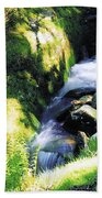 Glendalough, Co Wicklow, Ireland Beach Towel