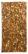 Glistening Gold Prairie Grass Abstract Beach Towel