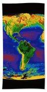 Global Biosphere Beach Towel