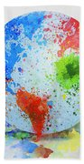 Globe Painting Beach Towel