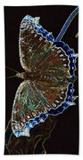 Glowing Butterfly Beach Towel