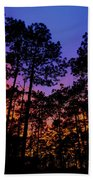 Glowing Forest Beach Towel