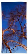 Glowing Trees Beach Towel