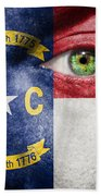 Go North Carolina Beach Towel
