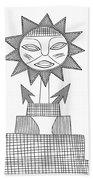 God Of Sun Beach Towel by Michal Boubin