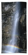Going To The Sun Road Waterfall Beach Towel