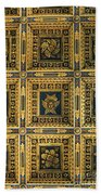 Gold Cathedral Ceiling Italy Beach Towel
