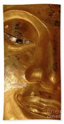 Gold Face Of Buddha Beach Towel