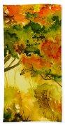 Golden Autumn Day Beach Towel