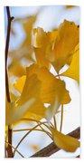Golden Autumn Beach Towel