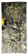 Golden Clear Ripples Beach Towel