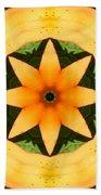 Golden Flower 2 Beach Towel