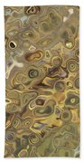 Golden Fluidity Beach Towel